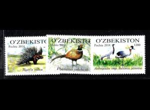 Usbekistan: 2015, Zootiere (meistens Vögel)