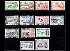 Turks- und Caicos-Inseln: 1950, König Georg VI. und Landesbilder