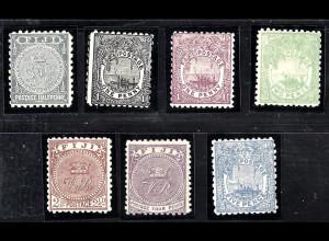 Fidschi-Inseln: 1890/96, Freimarken komplett