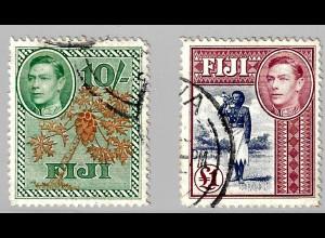 Fidschi-Inseln: 1938, König Georg VI. und einheimische Motive