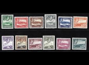 Antigua: 1938, König Georg VI. und Landschaften (Ausgabe komplett)