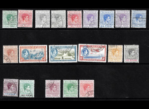 Bahamas: 1938/51, Freimarken König Georg VI. sowie Ergänzungswerte