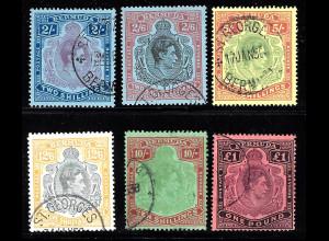 Bermuda-Inseln: 1938/53, Freimarken Großformate König Georg VI.
