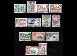 Salomon-Inseln: 1939, König Georg VI. mit Landesmotiven