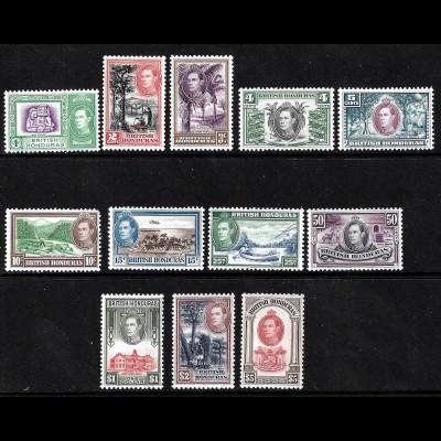 Belize (Brit. Honduras): 1938, König Georg VI. und Landesprodukte