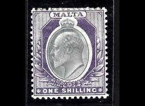 Malta: 1904, König Edward VII. 1 Sh. (Höchstwert)