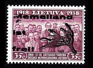 Memelgebiet: 1939, 35 C. Einzelstück (Type II)